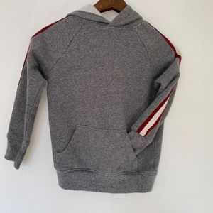 3/$30 Gray Striped Hooded Sweatshirt Boys 5-6